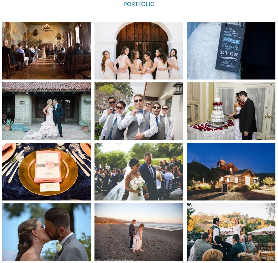 RSVP Weddings and Events, Portfolio