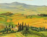 """""""Tuscana Glow"""" 11"""" X 14"""" oil, $600.00"""
