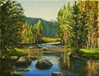 """Rock Creek"" 11"" X 14"" oil, $500.00"