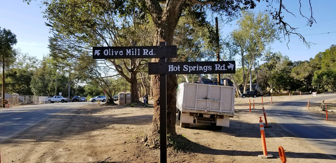 Volunteers Replacing Street Signs Damaged in 2018 Debris Flow