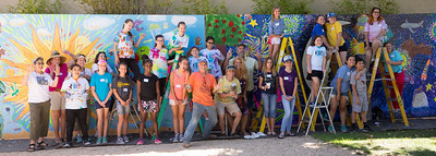 Teen Mural day 2018 - photo from past - previous year whole mural