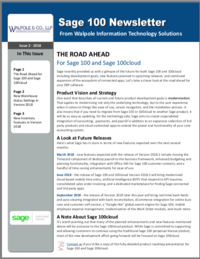 Sage 100 Newsletter - April 2018