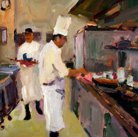 AST 2018 - Tom Henderson painting of kitchen chefs