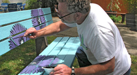 Bench project - local artist Gary Campopiano