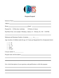 2018 new program proposal form