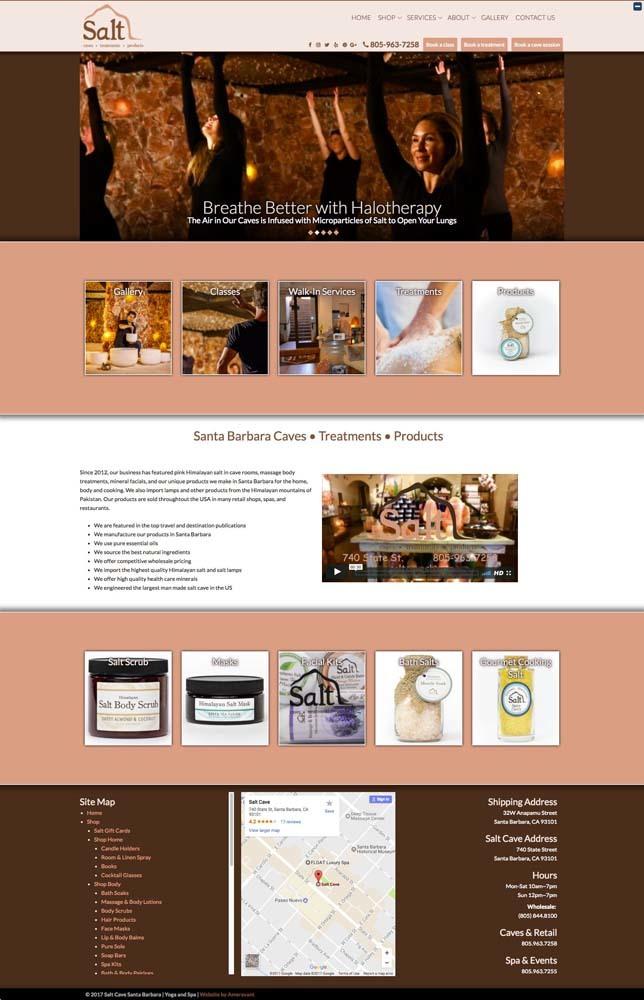 Santa Barbara Web Design Company Ameravant Salt Cave