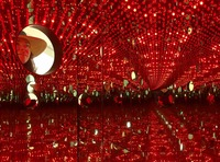 2018 Art Tours - Rebecca in Yayoi Kusama's Infinity Mirror Room at The Broad