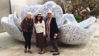Art Tours - Marty Rebecca and Ellen at Walt Disney Concert Hall