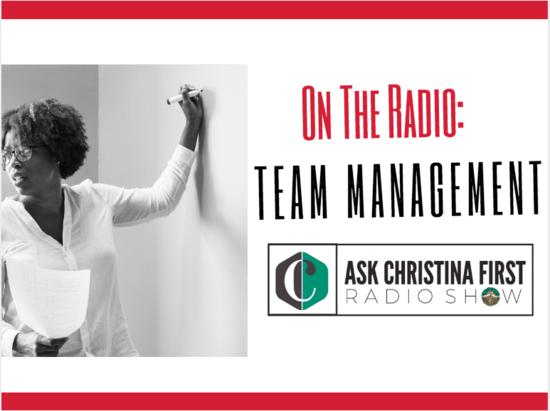 On the Radio: Team Management