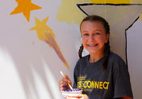 Teen Mural Project - girl smiling