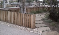 Carpentry Stonework Plantings & Flag Path