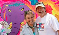 2018 TEEN MURAL - two adult volunteers on teen mural