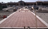 Commercial Brick Pavers Installation 2