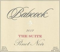 Babcock Pinot Noir 2012 The Suite Santa Barbara Funk Zone
