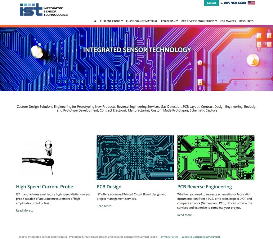 Integrated Sensor Technologies - Prototype Circuit Board Design and Reverse Engineering Current Probe