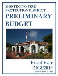 2018/2019 Fiscal Year Preliminary Budget