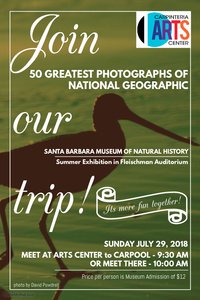 2018 POSTER - Santa Barbara Museum of Natural History - 50 Greatest Photographs of National Geographic