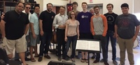 Percussion master Norman Freeman shares skills at True Blue Jazz student workshop