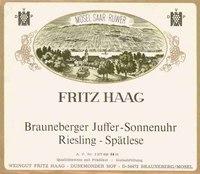 Fritz Haag Brauneberger Juffer-Sonnenuhr  Riesling-Spatlese