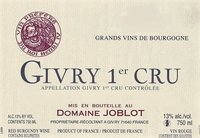 Domaine Joblot Givry 1er cru Grands Vins de Bourgogne