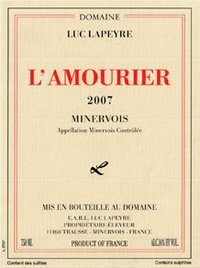 Domaine luc Lapeyre L'Amourier Minervois