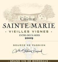 Chateau Sainte-Marie Vielle Vignes Grand Vin de Bordeaux