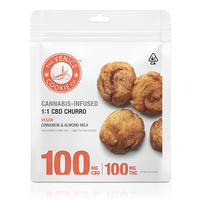 Venice Cookie Company CBD Churro 100mg CBD + 100mg THC