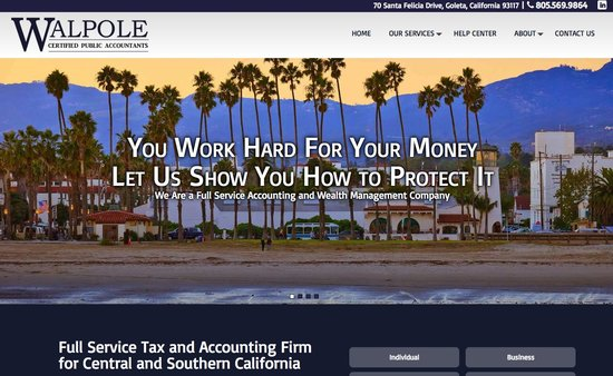 Walpole CPA Goleta Tax and Accounting Firm Homepage
