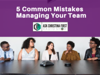 5 Common Mistakes in Managing Your Team