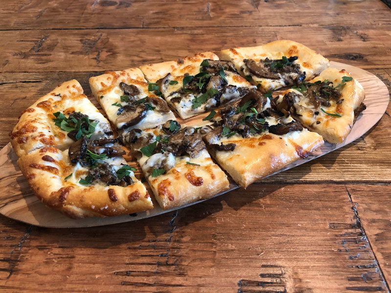 Wild Mushrooms and Truffles Flatbread