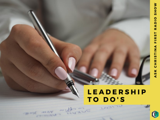 Radio: Five Leadership To Do's