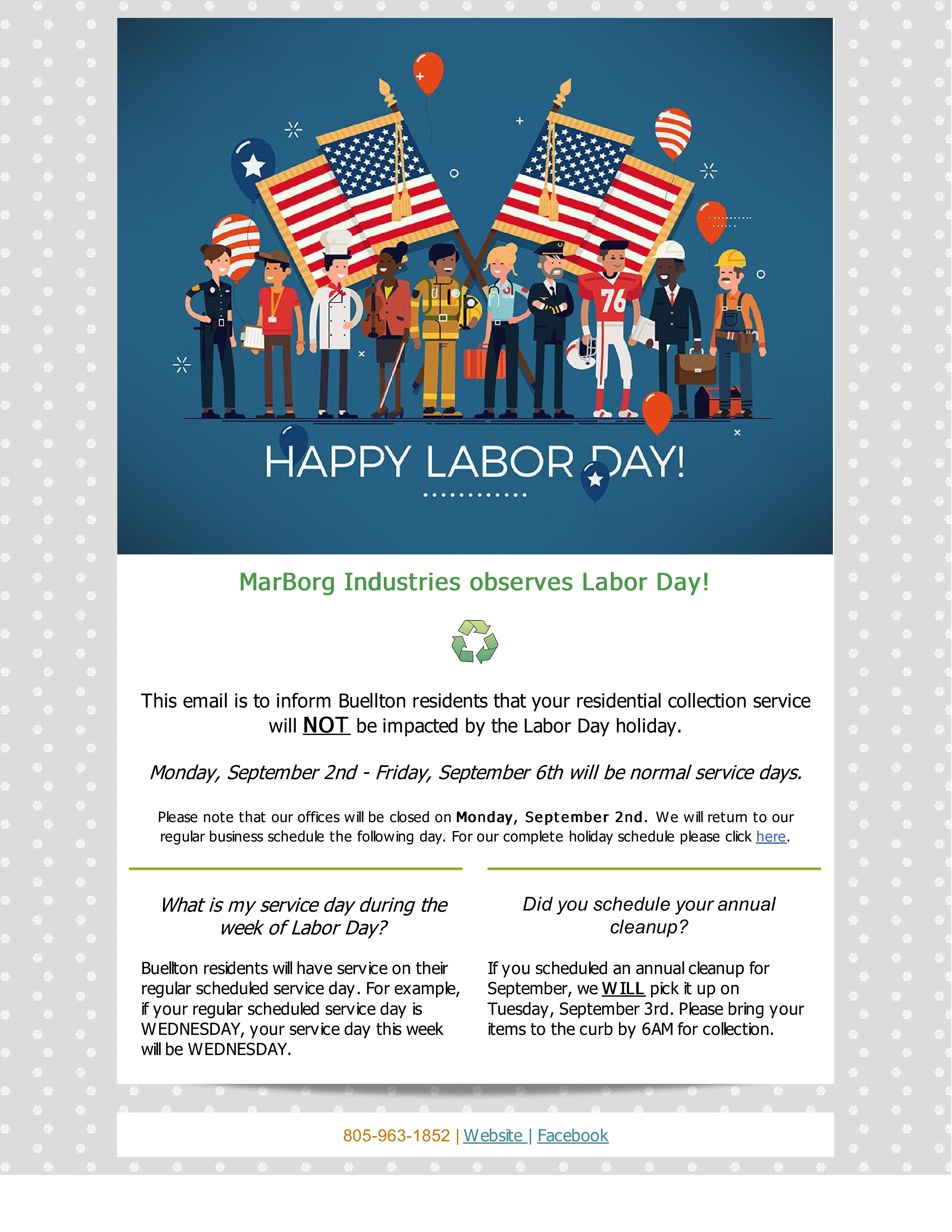 Marborg Industries Observes Labor Day