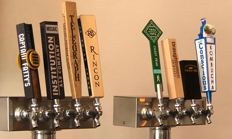 Premium Beers and Ciders on Tap Crush Santa Barbara Tasting Room & Kitchen