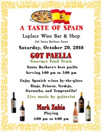 A Taste Of Spain Laplace Wine Bar & Shop Santa Barbara