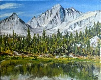 """Little Lakes Basin"" 8"" X 10"" oil, $400.00"
