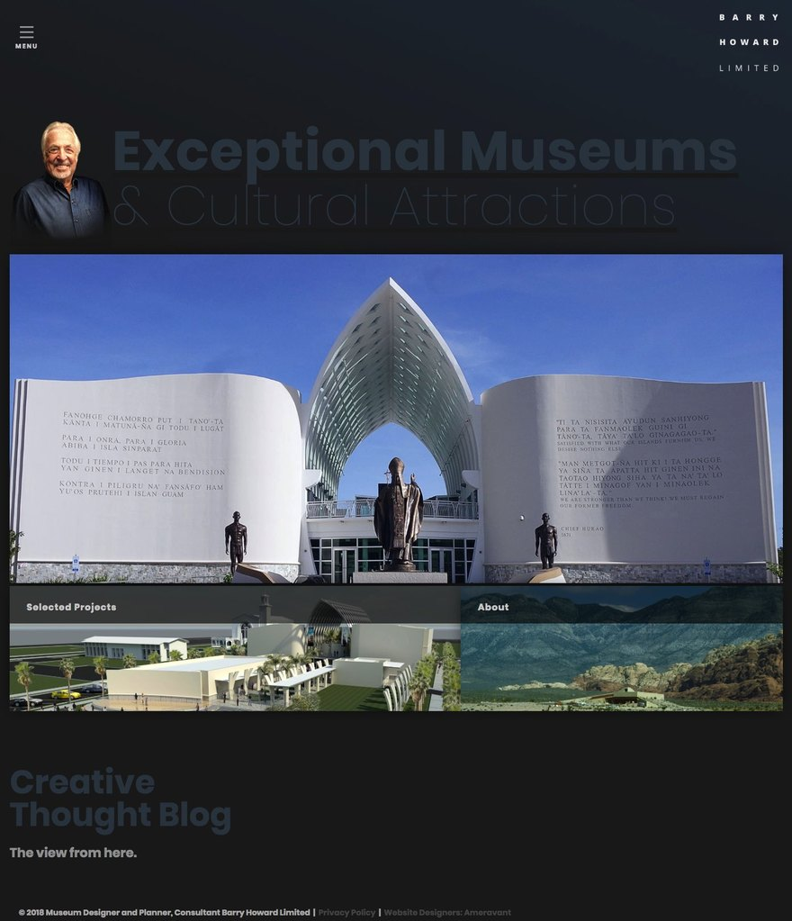 Barry Howard, Museum Designer and Planner Homepage