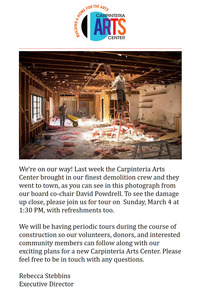 FEBRUARY 15-28, 2018 + CARPINTERIA ARTS NEWSLETTER