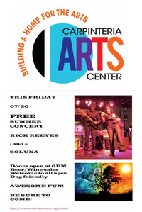 JULY 15-31, 2018 + CARPINTERIA ARTS NEWSLETTER