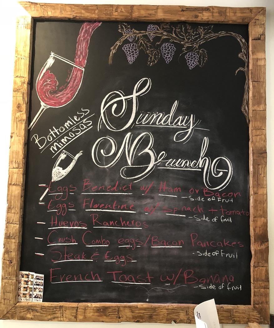 Sunday Brunch Specials, Bottomless Mimosas