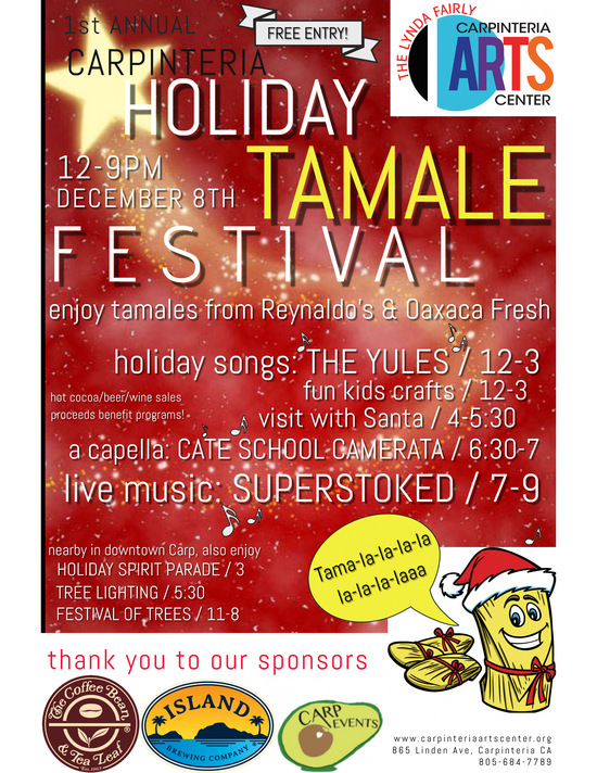 1st Annual Carpinteria Holiday Tamale Festival - poster