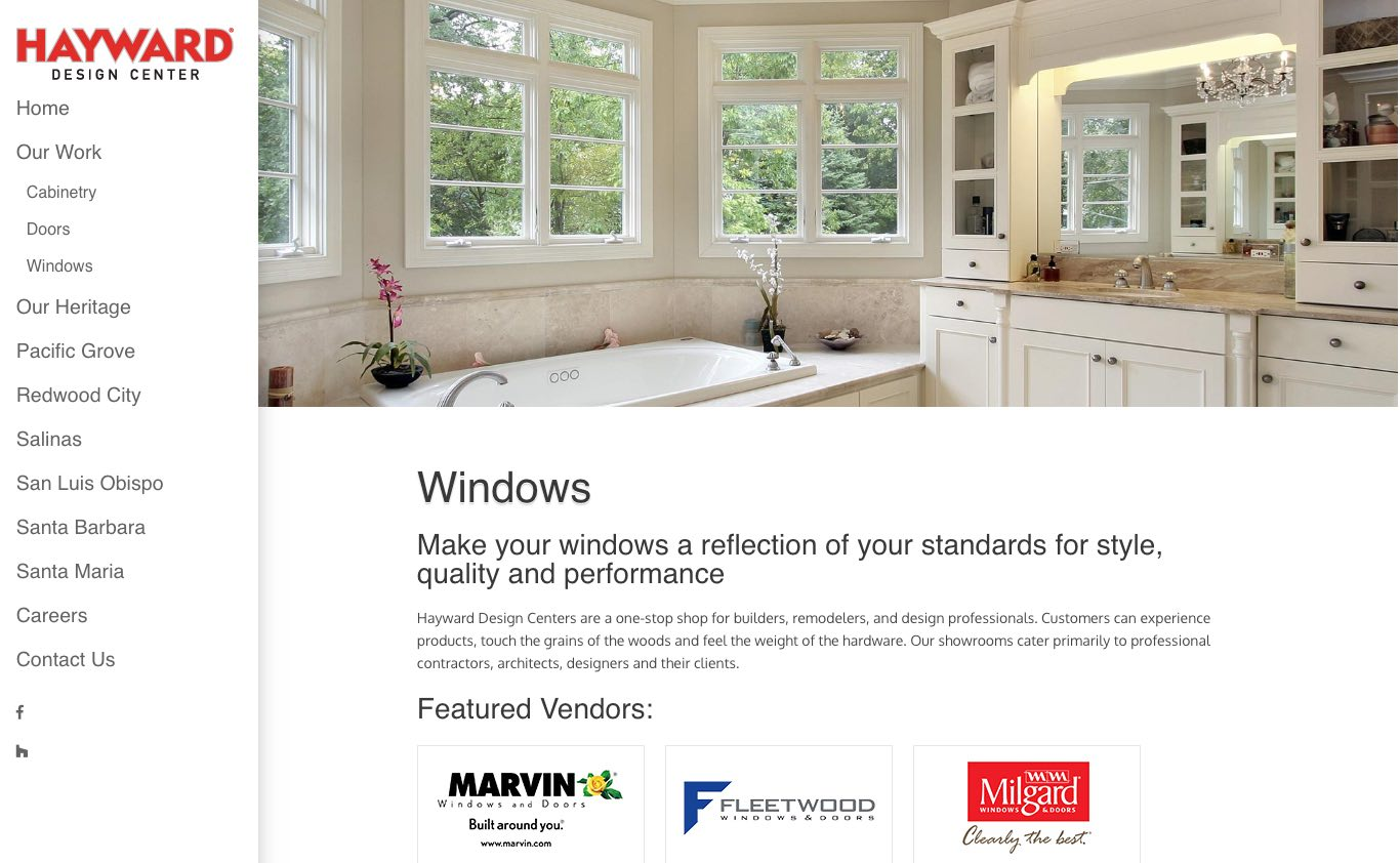 Hayward Design Centers Windows