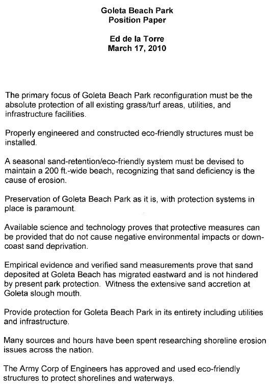Goleta Beach Park Position Paper1