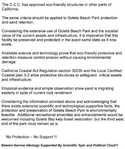 Goleta Beach Park Position Paper2