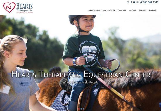 Hearts Therapeutic Equestrian Center Homepage