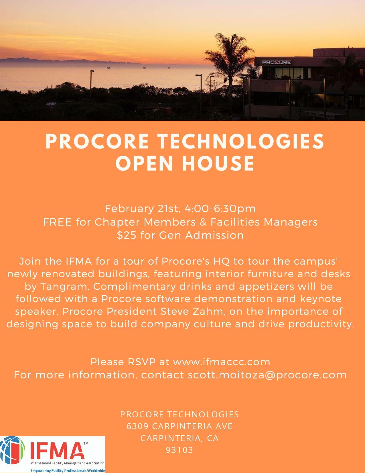 Procore Technologies Open House