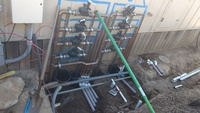 Irrigation unistrut copper RCV manifold