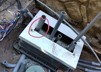 Irrigation 2-wire pedestal retrofit installation
