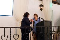 Santa Barbara Mayor Cath Murillo presenting Kathy Webb with proclamation