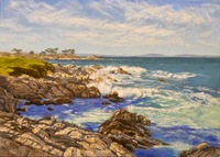 Pacific Grove, Christmas Day, 10 X 14 pastel