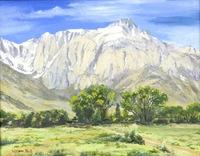 """Mt. Lone Pine"", oil, 11"" X 14"",  $500.00"